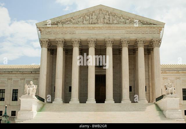US supreme court building, Washington DC, USA - Stock Image
