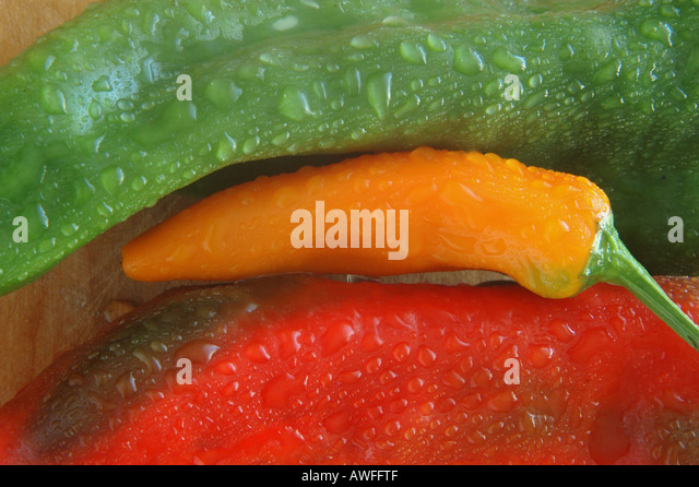Organic peppers 3 of 3 - Stock Image