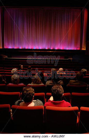 Auditorium Aldeburgh cinema Suffolk UK - Stock Image