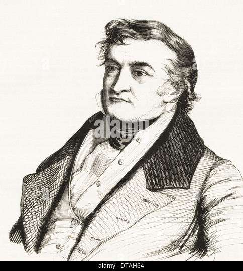 Jean Charles Léonard de Sismondi, 1773 – 1842. Swiss writer. - Stock Image