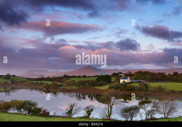 dawn Bantry Bay, nr Bantry, County Cork, Ireland - Stock-Bilder