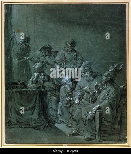 'A Biblical Subject', 17th century.  Artist: Leonard Bramer - Stock Image
