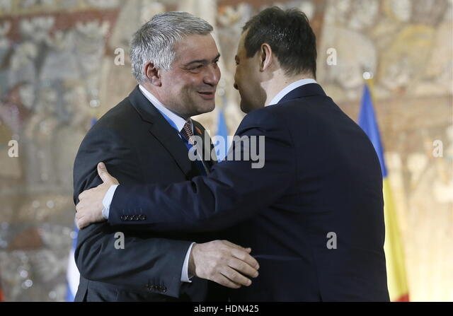 Belgrade, Serbia. 13th Dec, 2016. Armenia's Deputy Foreign Minister Ashot Hovakimian (L) and Serbia's Foreign - Stock Image