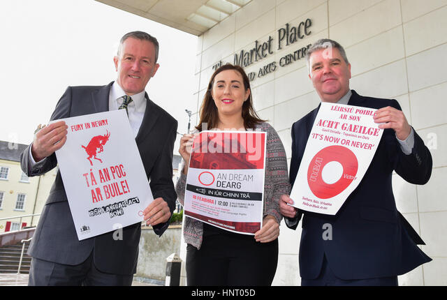 Armagh City, UK. 15th February 2017. Newry and Armagh Sinn Féin Election Candidates Conor Murphy, Megan Fearon - Stock Image