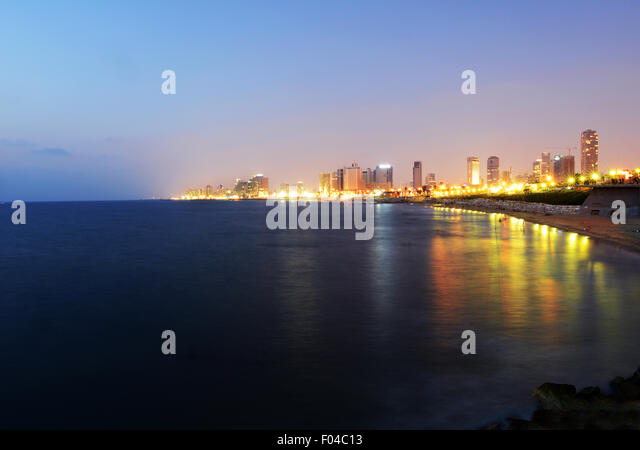 A view of Tel-Aviv as seen from Jaffa. - Stock Image
