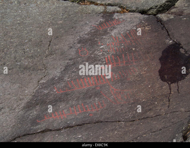 Viking rock carving stock photos