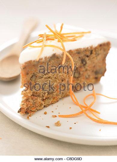 Carrot cake - Stock Image
