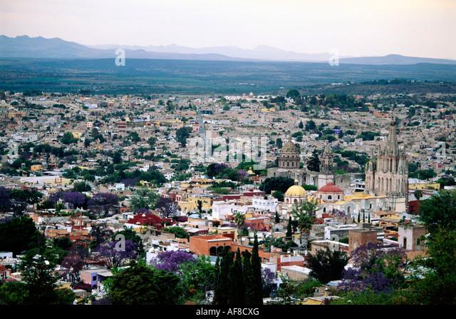 View of San Miguel de Allende, Mexico - Stock Image