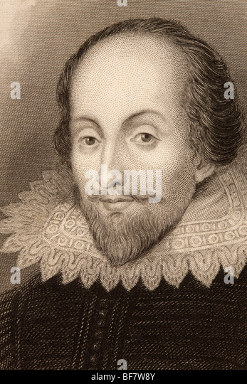 William Shakespeare, 1564 to 1616. English poet, playwright, dramatist and actor. - Stock Image