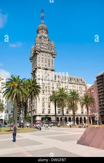 Palacio Salvo, Montevideo - Stock Image
