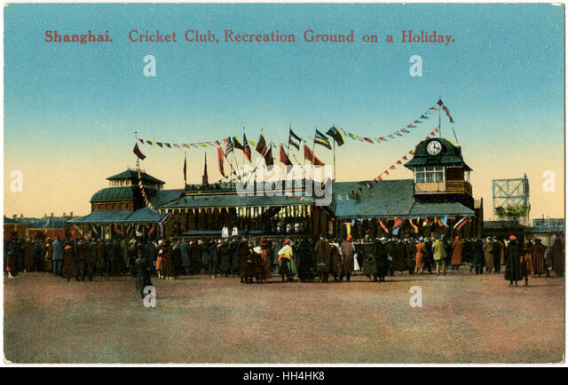Shanghai Cricket Club and Recreation Ground, China. - Stock Image