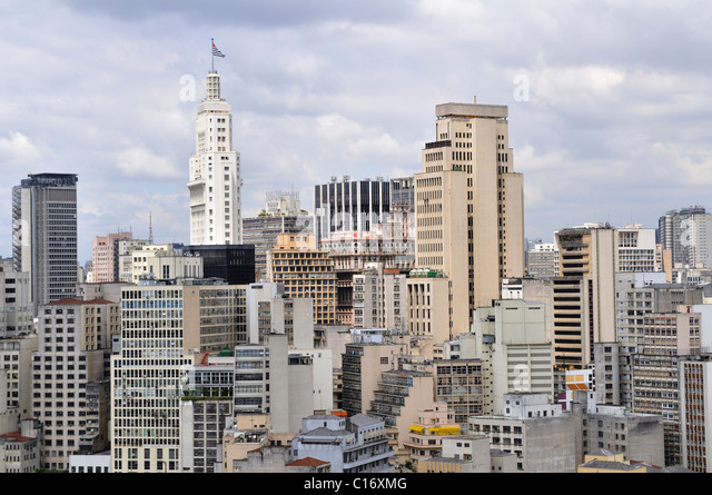 Skyscrapers in downtown Sao Paulo, Brazil, South America - Stock Image