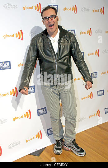 David LaChapelle 9th Annual Glaad OUT Auction, held at Metropolitan Pavillion - Arrivals New York City, USA - 21.11.10 - Stock Image