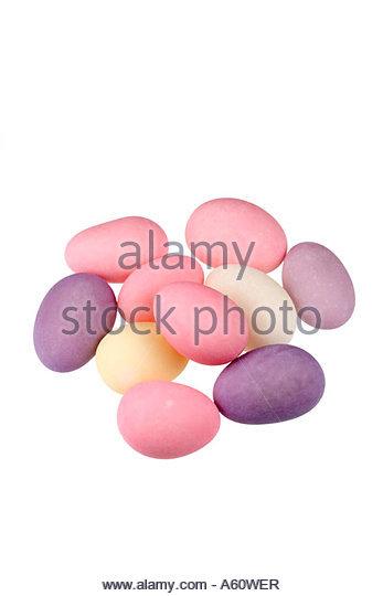 Sugared Almonds. - Stock Image