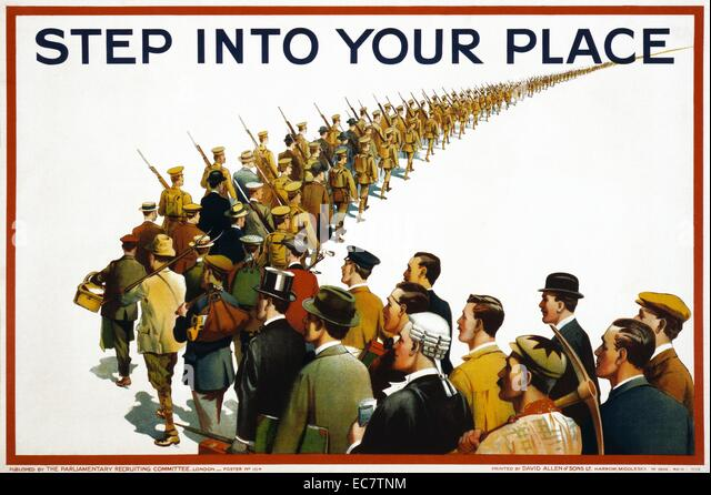 English propaganda poster - Stock Image