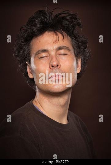 man portrait headshot in studio - Stock Image
