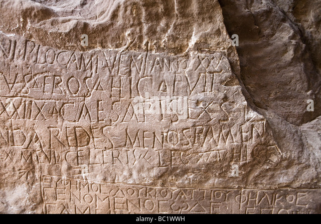 Rock-art inscriptions in the Eastern Desert of Egypt, North Africa - Stock Image