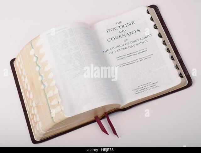Book of Mormon, Still Life - Stock Image