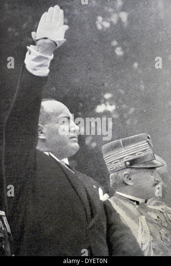 Mussolini and the Winner of Vittorio Veneto Marshal Diaz - Stock Image