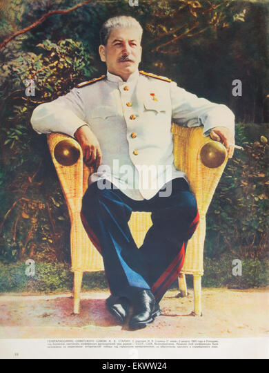 Generalissimo I. Stalin at a conference in Potsdam in 1945 - Stock Image