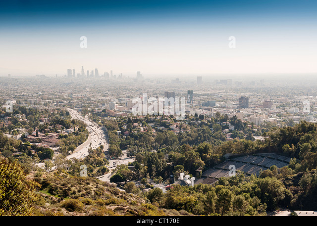 Aerial view of Los Angeles - Stock Image