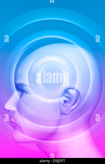 psyche and psychology concept - Stock Image