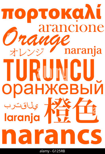 how to say orange in different languages