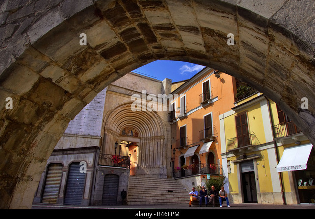 Sulmona, Italy. - Stock-Bilder
