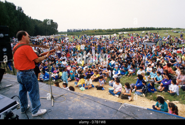 Open air music concert - Stock Image