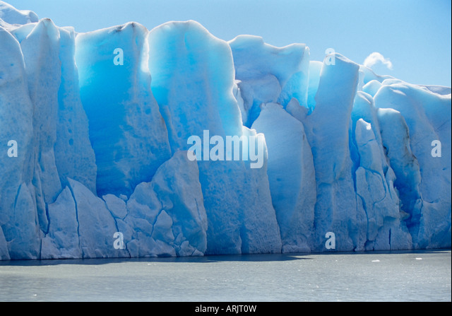 Icebergs, Lake Gray, Torres del Paine National Park, Patagonia, Chile, South America - Stock-Bilder