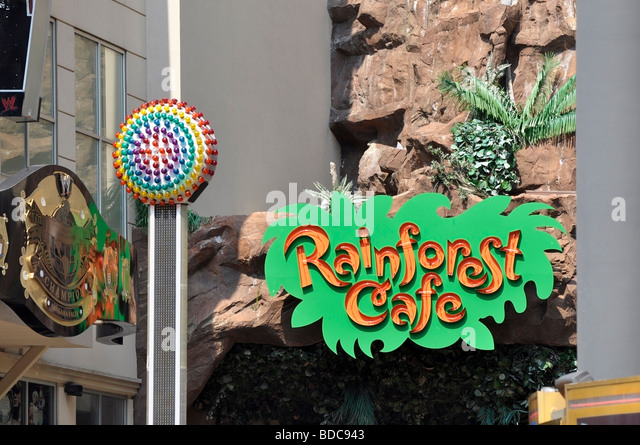 Rainforest Cafe - Attractions on Clifton Hill, Niagara, Ontario - Stock-Bilder