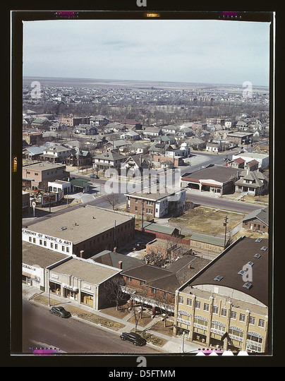 Amarillo, Texas, general view, Santa Fe R.R. trip (LOC) - Stock Image