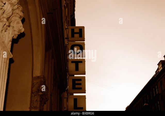 RETRO HOTEL - Stock Image