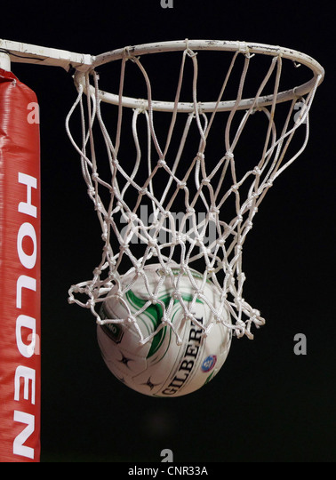 Netball Hoop, Auckland, New Zealand, Sunday, April 01, 2012. - Stock Image
