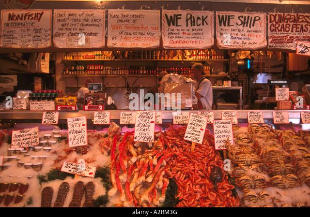 Seattle fish monger stock photos seattle fish monger for Fish market seattle washington