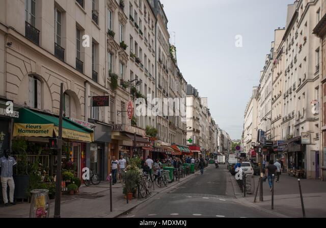 Paris, Rue du faubourg Saint Denis, from 35 to 42 - Stock Image