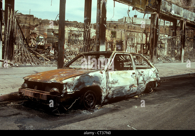 Aftermath of riots - Stock Image