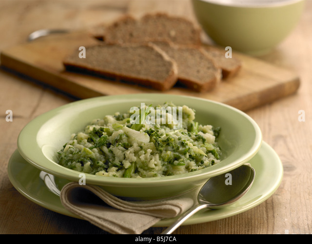 Parsnip and kale colcannon - Stock Image