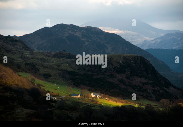 In the mountains near Beddgelert, Snowdonia, North Wales, UK - Stock Image
