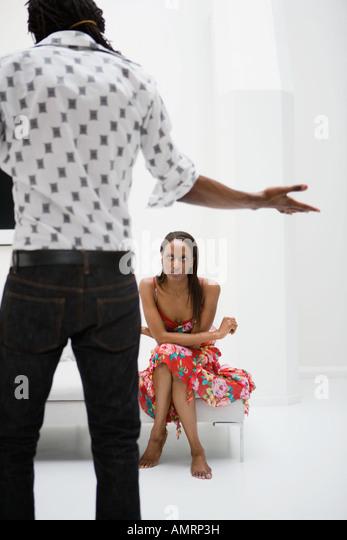 African couple having argument - Stock-Bilder