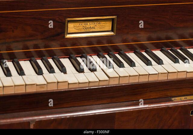 Antique J. Chickering piano, circa 1800s - USA - Stock-Bilder