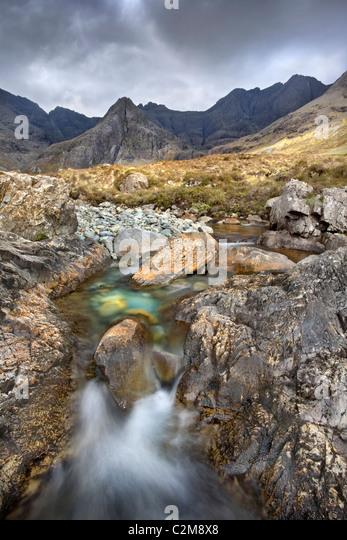 Glen Brittle fairy pools, Isle of Skye. - Stock Image