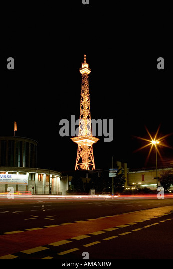 Telecommunication tower in Berlin - Stock Image