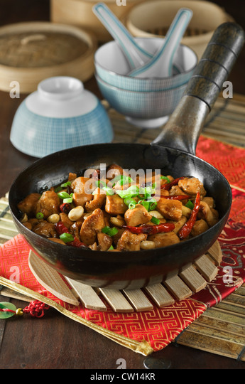 Kung Pao chicken Chinese food - Stock Image