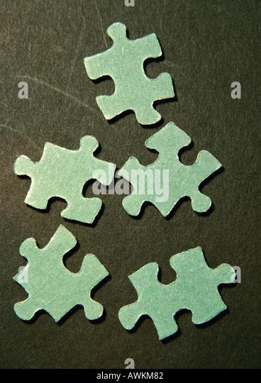 Puzzle pieces, close-up - Stock Image