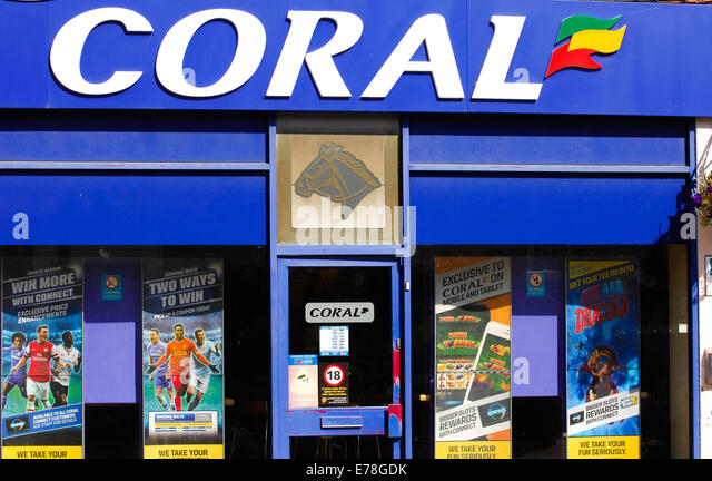 Coral betting shop for gambling gamers - Stock Image