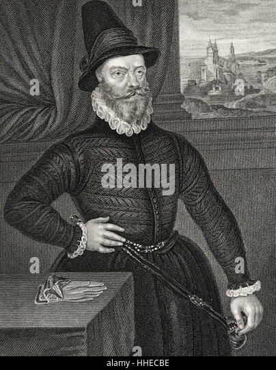 James Douglas, 4th Earl of Morton (cCl581); Regent of Scotland. Engraving - Stock Image