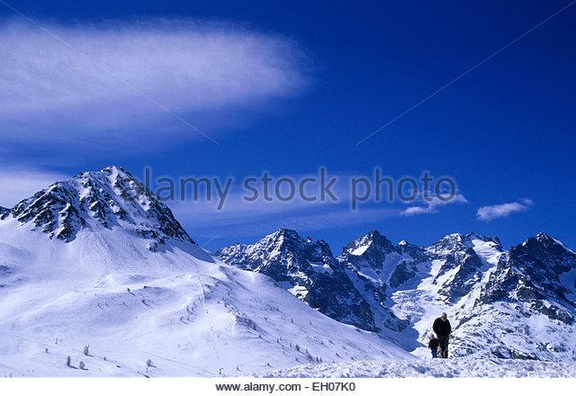 France, Hautes-Alpes, picks, trekking - Stock Image