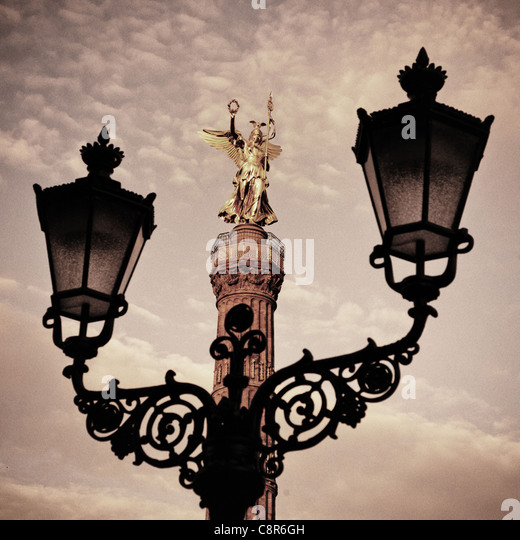 Berlin victory column, laterne , - Stock Image