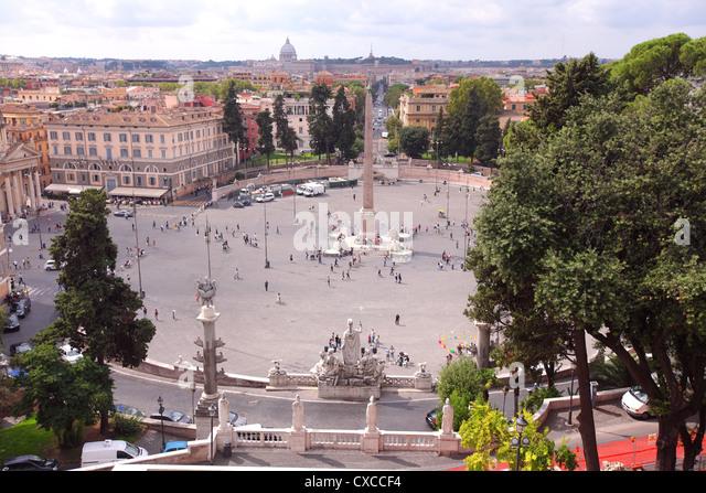 Italy, Rome, Rom, Roma, city, Piazza del Popolo, popolo - Stock Image
